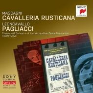 マスカーニ:カヴァレリア・ルスティカーナ、レオンカヴァッロ:道化師 クレヴァ&メトロポリタン歌劇場、リチャード・タッカー、他(1953 モノラル)(2CD)