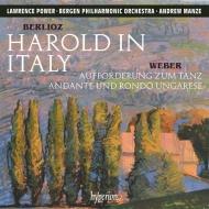 ベルリオーズ:イタリアのハロルド、ウェーバー:舞踏への勧誘、他 ローレンス・パワー、アンドルー・マンゼ&ベルゲン・フィル