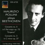 ピアノ協奏曲第5番『皇帝』、第3番 マウリツィオ・ポリーニ、プラデッラ&ローマRAI響、ヤニグロ&ミラノRAI響(1959、1963)