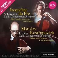 シューマン:チェロ協奏曲(ジャクリーヌ・デュ・プレ、マルティノン指揮)、ドヴォルザーク:チェロ協奏曲(ロストロポーヴィチ、ジュリーニ指揮)(1962年ライヴ)