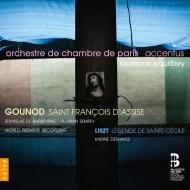 グノー:アッシジの聖フランチェスコ、聖セシリアへの讃歌、リスト:聖セシリアの伝説 ロランス・エキルベイ&アクサンチュス、パリ室内管弦楽団、他