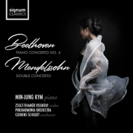 Beethoven Piano Concerto No.4, Mendelssohn Double Concerto : Min-jung Kym(P)Schuldt / Philharmonia, Visontay(Vn)