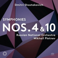 交響曲第4番、第10番 ミハイル・プレトニョフ&ロシア・ナショナル管弦楽団(2SACD)