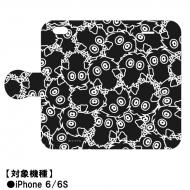 手帳型スマホケース iPhone 6/6Sサイズ(クリボー増殖デザイン)