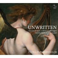 『書かれたことのない…バロック時代のハープ作品集〜ヴァイオリン作品からの編曲』 フローラ・パパドプーロス