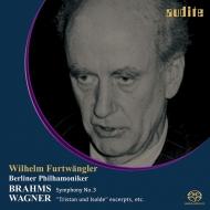 ブラームス:交響曲第3番(1954)、ワーグナー(1949、1954) ヴィルヘルム・フルトヴェングラー&ベルリン・フィル(シングルレイヤー)