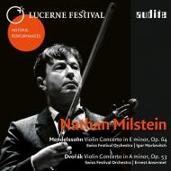 メンデルスゾーン:ヴァイオリン協奏曲、ドヴォルザーク:ヴァイオリン協奏曲 ナタン・ミルシテイン、マルケヴィチ、アンセルメ、ルツェルン祝祭管(1953、55)