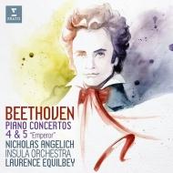 ピアノ協奏曲第5番『皇帝』、第4番 ニコラ・アンゲリッシュ(1892年製プレイエル)、ロランス・エキルベイ&インスラ・オーケストラ
