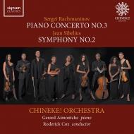 ラフマニノフ:ピアノ協奏曲第3番、シベリウス:交響曲第2番 ジェラルド・アイモンチェ、ロデリック・コックス&チネケ!・オーケストラ