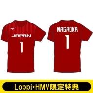 【長岡望悠選手/Mサイズ】 2018-19全日本女子バレーボールチーム公式応援Tシャツ(背番号入り)