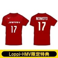 【野本梨佳選手/Mサイズ】 2018-19全日本女子バレーボールチーム公式応援Tシャツ(背番号入り)