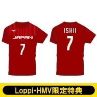 【石井優希選手/Lサイズ】 2018-19全日本女子バレーボールチーム公式応援Tシャツ(背番号入り)