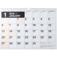 E4 エコカレンダーA2 2019年1月始まり 2019年 壁掛