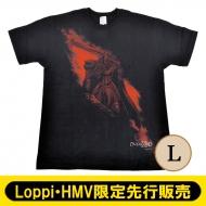 オーバーロードIII×久米繊維 コラボTシャツ モモン(L)【Loppi・HMV先行】