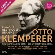 ベートーヴェン:交響曲第5番『運命』、モーツァルト:第25番、ブラームス:ドイツ・レクィエム オットー・クレンペラー&フィルハーモニア、BBC響(1955、58)(2CD)