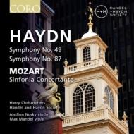 ハイドン:交響曲第49番『受難』、第87番、モーツァルト:協奏交響曲 ハリー・クリストファーズ&ヘンデル&ハイドン・ソサエティ、ノスキー、マンデル