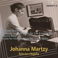 ブラームス:ヴァイオリン・ソナタ第1番『雨の歌』、ラヴェル:ヴァイオリン・ソナタ ヨハンナ・マルツィ、イシュトヴァン・ハイデュ(1972)