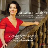 Goetz Piano Concerto No.2, Brahms Piano Concerto No.1 : Kauten(P)Medveczky / Savaria So (2CD)