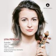 プロコフィエフ:ヴァイオリン協奏曲第1番、ニールセン:ヴァイオリン協奏曲 リヤ・ペトロヴァ、クリスティーナ・ポスカ&オーデンセ交響楽団