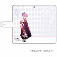 手帳型スマホケース(ラム / 袴)汎用Lサイズ