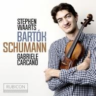 シューマン:ヴァイオリン・ソナタ第1番、バルトーク:ヴァイオリン・ソナタ第1番、他 スティーヴン・ヴァールツ、ガブリエーレ・カルカノ