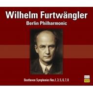 ヴィルヘルム・フルトヴェングラー&ベルリン・フィル 定期演奏会のベートーヴェン:交響曲第1番、第3番、第5番、第6番、第7番、第8番(1947-54)(6CD)