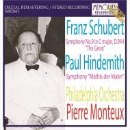 シューベルト:交響曲第9番『グレート』、ヒンデミット:画家マチス ピエール・モントゥー&フィラデルフィア管弦楽団(1960年ステレオ・ライヴ)