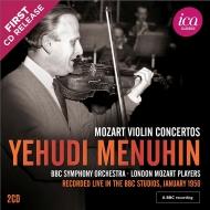 ヴァイオリン協奏曲集 イェフディ・メニューイン、サージェント、ウォーレンスタイン、BBC交響楽団、ロンドン・モーツァルト・プレイヤーズ、他(1956)(2CD)
