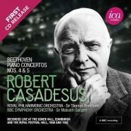 ピアノ協奏曲第5番『皇帝』、第4番 ロベール・カサドシュ、サージェント&BBC交響楽団、ビーチャム&ロイヤル・フィル(1952、1956)