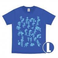 ドラゴンクエストビルダーズ2 Tシャツ(ブルー) サイズL