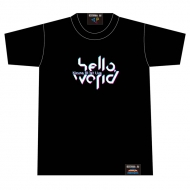 hello world ロゴTシャツ Black [M]