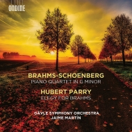 ブラームス:ピアノ四重奏曲第1番(シェーンベルク編曲管弦楽版)、パリー:ブラームスへのエレジー ハイメ・マルティン&イェヴレ交響楽団