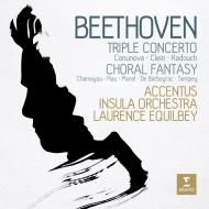 合唱幻想曲、三重協奏曲 ロランス・エキルベイ&インスラ・オーケストラ、アクサンチュス、ベルトラン・シャマユ、ダヴィッド・カドゥシュ、サンドリーヌ・ピオー、他