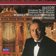 交響曲第92番『オックスフォード』、第96番『奇蹟』 アンドレ・プレヴィン&ウィーン・フィル