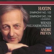 交響曲第104番『ロンドン』、第102番 アンドレ・プレヴィン&ウィーン・フィル
