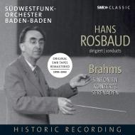 交響曲全集、セレナード第1、2番、ピアノ協奏曲第1番(ギーゼキング)、第2番(アンダ) ハンス・ロスバウト&南西ドイツ放送交響楽団(6CD)