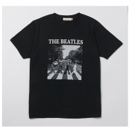 Abbey Road Cover Tee Black L