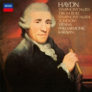 Haydn Symphonies Nos.103, 104, Beethoven Symphony No.7 : Herbert von Karajan / Vienna Philharmonic (Single Layer)