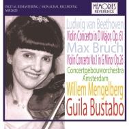 ベートーヴェン:ヴァイオリン協奏曲、ブルッフ:ヴァイオリン協奏曲第1番 ギラ・ブスタボ、ウィレム・メンゲルベルク&コンセルトヘボウ管弦楽団(1943、1940)