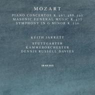 ピアノ協奏曲第21番、第23番、第27番、交響曲第40番、他 キース・ジャレット、デニス・ラッセル・デイヴィス&シュトゥットガルト室内管弦楽団(2CD)