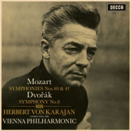 モーツァルト:交響曲第40番、第41番『ジュピター』、ドヴォルザーク:交響曲第8番 ヘルベルト・フォン・カラヤン&ウィーン・フィル(シングルレイヤー)
