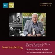 Schumann Symphony No.1, Brahms Symphony No.4 : Kurt Sanderling / French National Orchestra (1980 Stereo)