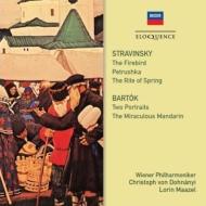 ストラヴィンスキー:春の祭典(マゼール指揮)、ペトルーシュカ、『火の鳥』全曲、バルトーク:中国の不思議な役人(ドホナーニ指揮) ウィーン・フィル(2CD)