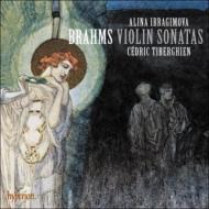 ブラームス:ヴァイオリン・ソナタ第1番、第2番、第3番、クララ・シューマン:アンダンテ・モルト アリーナ・イブラギモヴァ、セドリック・ティベルギアン