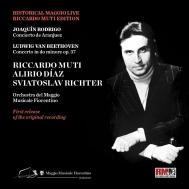 ベートーヴェン:ピアノ協奏曲第3番、ロドリーゴ:アランフェス協奏曲 スヴィヤトスラフ・リヒテル、アリリオ・ディアス、リッカルド・ムーティ&フィレンツェ五月祭管