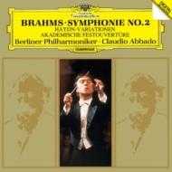 交響曲第2番、ハイドンの主題による変奏曲、大学祝典序曲 クラウディオ・アバド&ベルリン・フィル(1987-90)