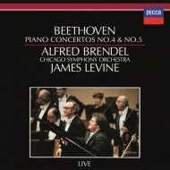 ピアノ協奏曲第5番『皇帝』、第4番 アルフレート・ブレンデル、ジェイムズ・レヴァイン&シカゴ交響楽団