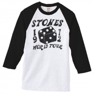 TRS Dice Raglan LS Tee Black White XL