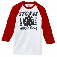 TRS Dice Raglan LS Tee Red White L