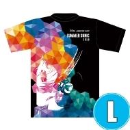 ターンテーブル総柄Tシャツ (L)